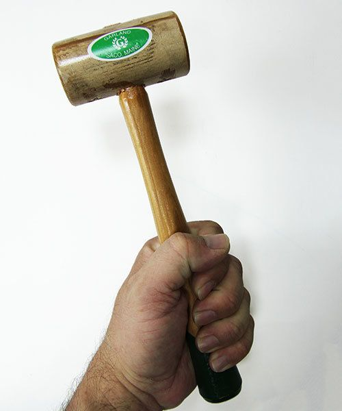 37.712 = Weighted Rawhide Mallet by Garland  (1-1/2'' face / 12oz head)