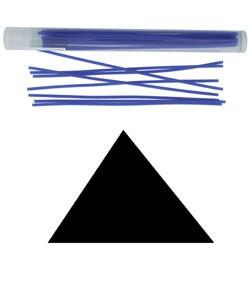 CA693-14 = Wax Wire Blue TRIANGLE 14ga