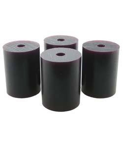 "Du-Matt 21.02817 = Wax Rods PURPLE (Hard) (set of 4) 1-1/2""x1-3/32"""
