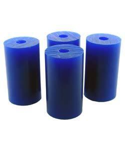 "21.02820 = Wax Rods BLUE (Soft) (set of 4) 1-1/2""x7/8"""