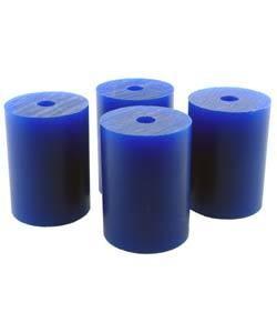 """Du-Matt 21.02815 = Wax Rods BLUE (Soft) (set of 4) 1-1/2""""x1-3/32"""""""
