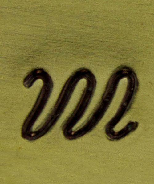 PN5030 = ALTERNATIVE DESIGN STAMP - Squiggly line