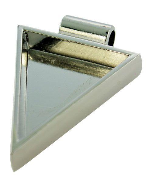 3000SC-44 = Triangle Pendant 1-1/4''x1'' ID Silver Color