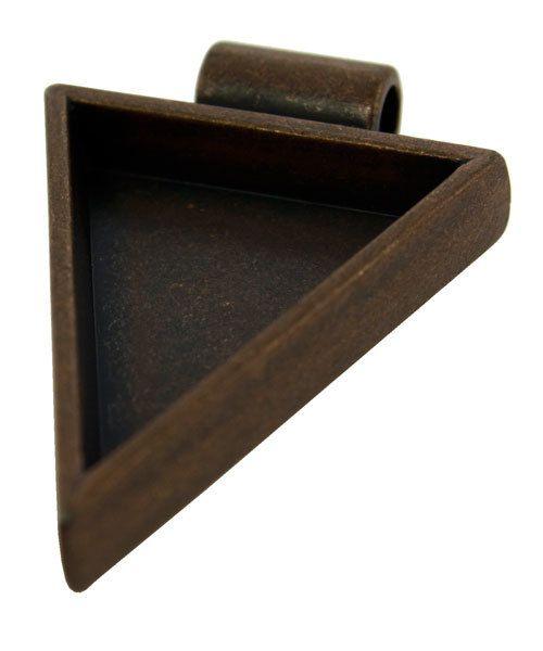 3000CC-44 = Triangle Pendant 1-1/4''x1'' ID Antique Copper Color