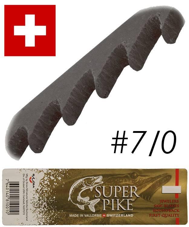 49.541 = Super Pike Brand Jewelers Swiss Sawblades #7/0 (Gross)