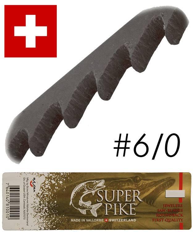 49.542 = Super Pike Brand Jewelers Swiss Sawblades #6/0 (Gross)