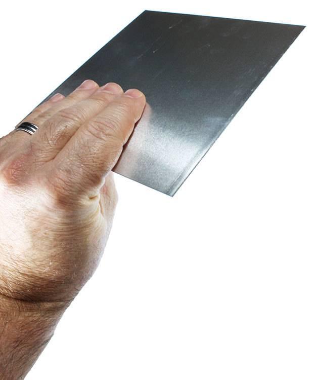 AS20-6 = Aluminum Sheet 20ga  6'' x 6'' 0.81mm Thick