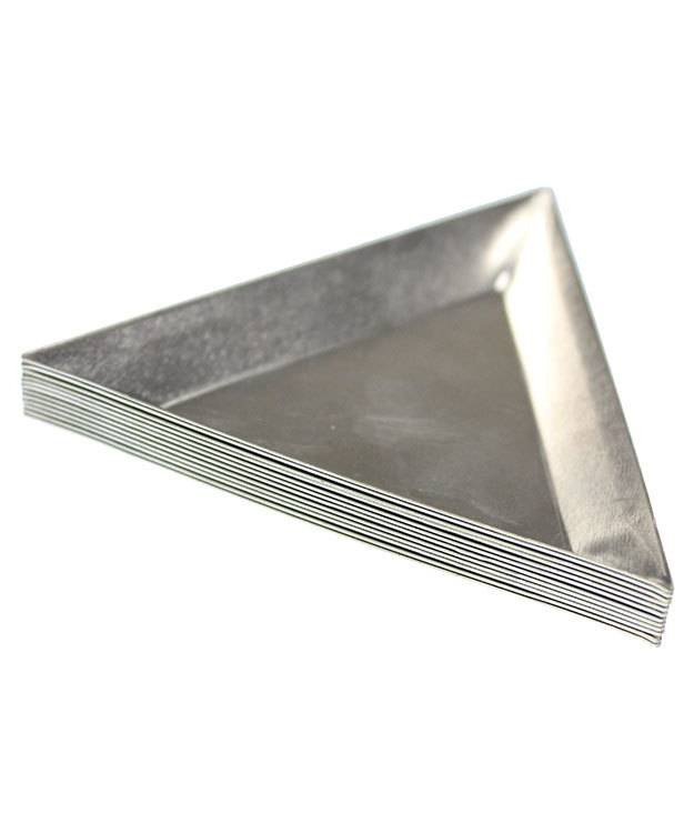 38.0167 = Aluminum Triangle Parts Trays (Pkg of 12)