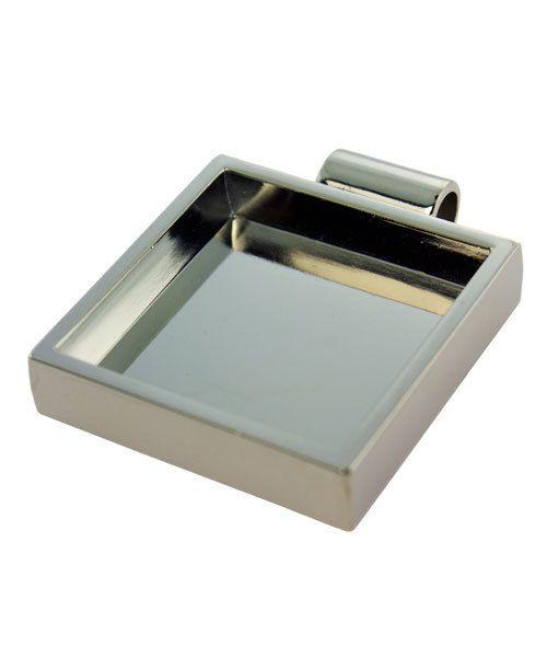 3000SC-42 = Square Pendant 1-1/8''x1-1/8'' ID Silver Color