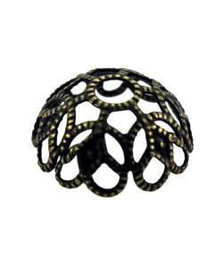 5020AB-75 = Antique Brass Bead Cap 11mm (Pkg of 50)
