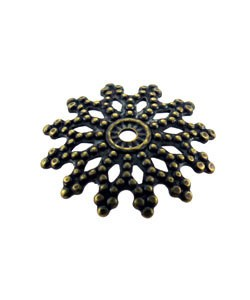 5020AB-70 = Antique Brass Bead Cap 12mm (Pkg of 50)