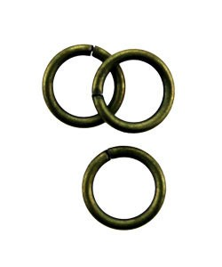 900AB-6.0 = Antique Brass Jump Ring 6.0mm OD x .036'' Wire (Pkg of 100)