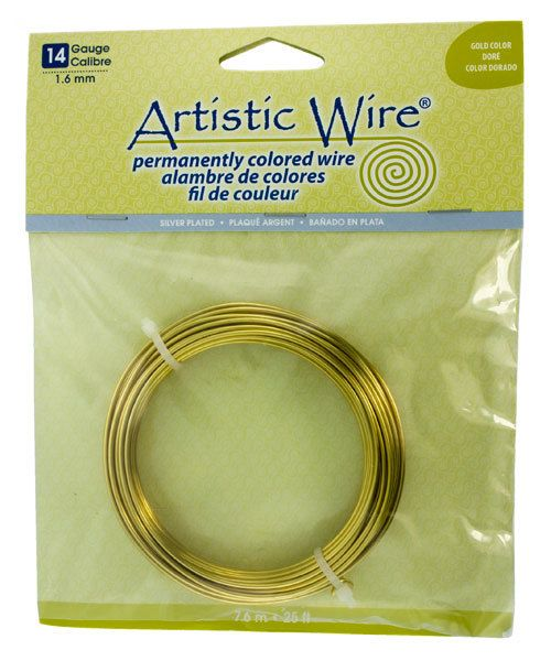 WR35314 = ARTISTIC WIRE RETAIL PACK SP GOLD 14ga 25 FEET