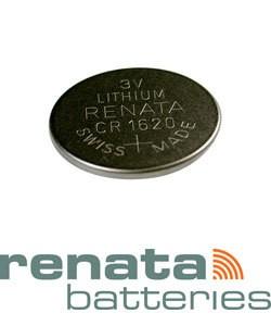 BA1620 = Battery - Renata 3v Lithium - #1620 (Pkg of 5)