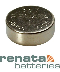 BA357 = Battery - Renata Mercury Free Watch #357 (SR44W) (Pkg of 10)