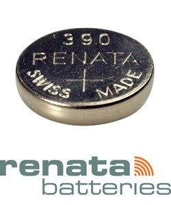 BA390 = Battery - Renata Mercury Free Watch #390 (SR1130SW) (Pkg of 10)