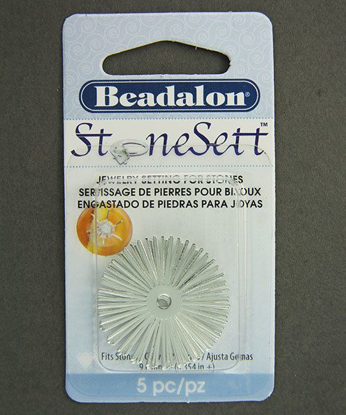 3217SP = Stonesett Large Round by Beadalon, 25 spokes, 32mm for cabachons, 5pc