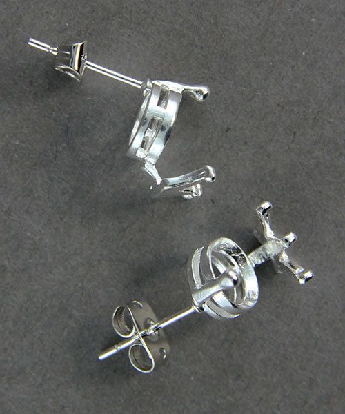 3223SP = StoneSett Tension Mount Earring by Beadalon Crown, fits 8-9.0mm stones, 1 pair
