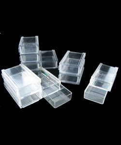 BX2207 = STORAGE STACK DRAWERS SET OF 10 MINI DRAWERS