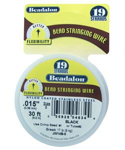 CD41915B = BEADALON 19  .015''  30 FT SPOOL BLACK