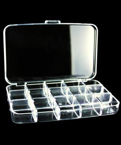 BX2515 = STORAGE BOX 15 SPACES CLEAR