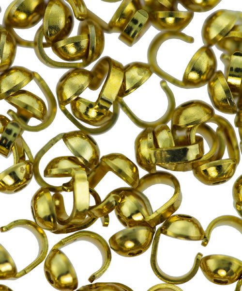 580C-01 = BEAD TIP GOLD COLORED (100)