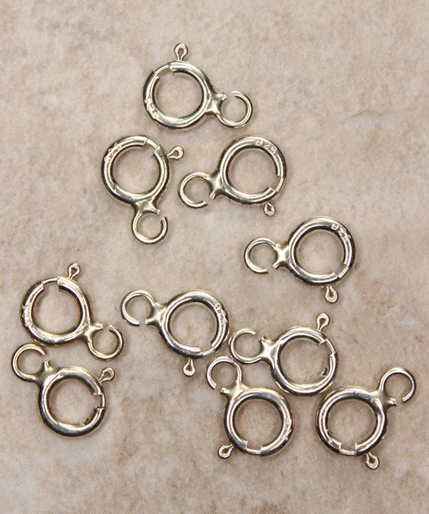 911S-13 = Sterling Silver Spring Ring 5.5mm Flat (Pkg of 10)