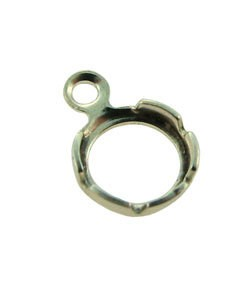 250S-01 = Sterling Silver Snap In Bezel Back Set 4mm Round with 1 Ring (Pkg of 10)