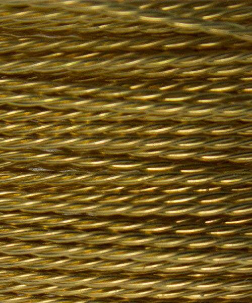 WR53624 = ARTISTIC WIRE RETAIL SPOOL TWIST BRASS 24ga 10 yards