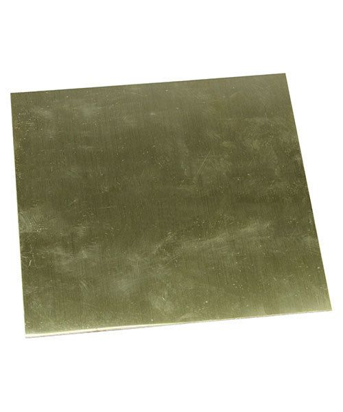 BS24-6 = Red Brass Sheet 24ga  6'' x 6'' 0.51mm Thick