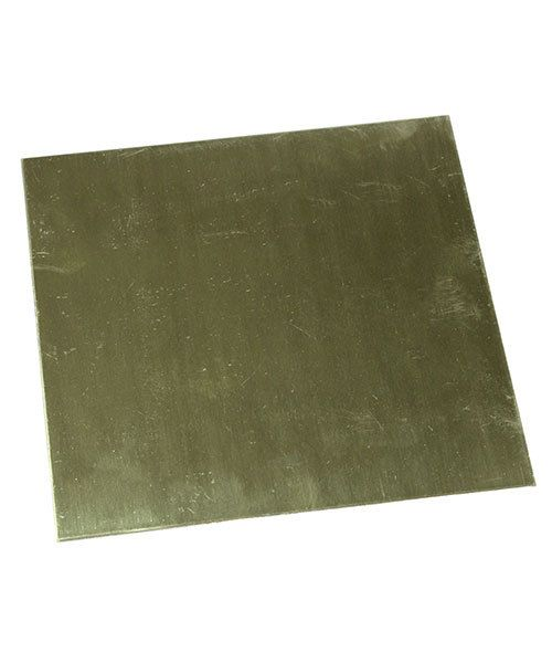BS18-6 = Red Brass Sheet 18ga  6'' x 6'' 1.02mm Thick