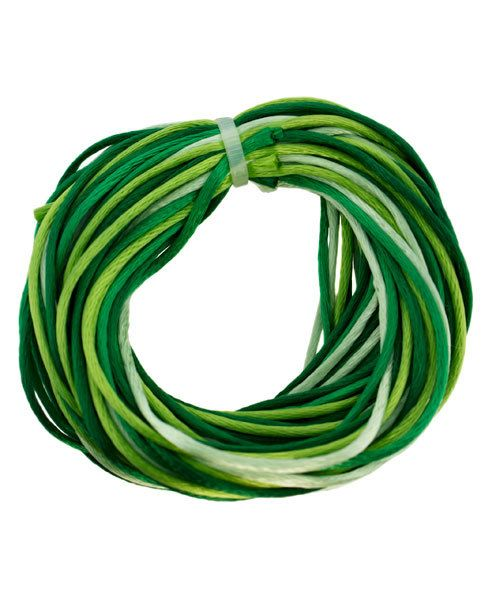CD8102 = Rattail 1mm 4 COLOR EVERGREEN 3yd each = 12yd COIL