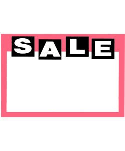 DSI1132 = PRICE CARD MINI ''SALE'' (Pkg of 50)