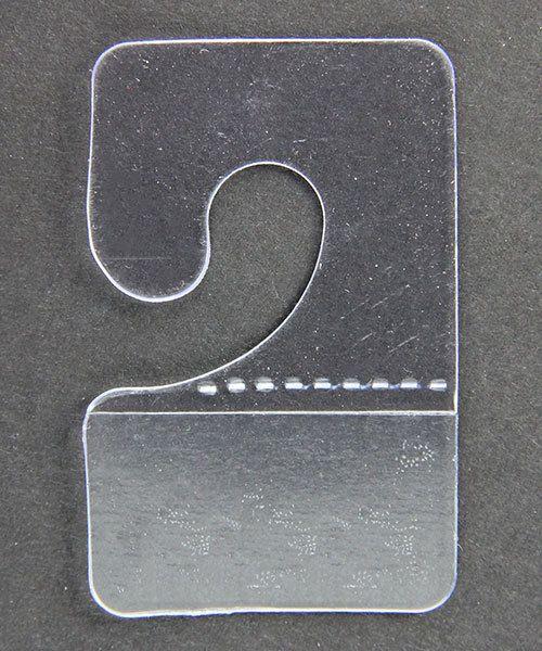 DIS1042 = Adhesive Hang Tabs with J-Hook (Pkg of 200)