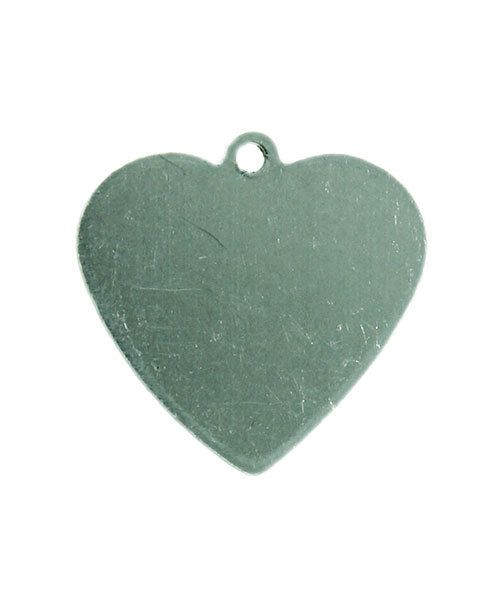 MSAL13120 = Aluminum Soft-Strike Stamping Blank - HEART with RING 5/8'' (Pkg of 6)