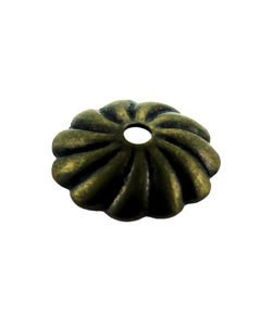 5020AB-71 = Antique Brass Bead Cap 7mm (Pkg of 50)