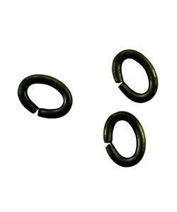 903AB-34 = Antique Brass Oval Jump Ring 3 x 4mm (Pkg of 100)