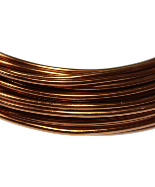 WR71712 = Artistic Wire Aluminum Light Brown Color Craft Wire 12ga 39 foot coil