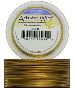 WR35320 = ARTISTIC WIRE RETAIL PACK SP GOLD 20ga 25 FEET