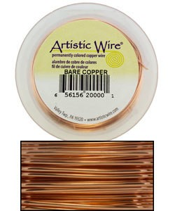 WR33530 = ARTISTIC WIRE RETAIL SPOOL BARE COPPER 30GA 50 YARDS