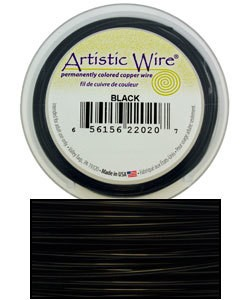 WR30230 = ARTISTIC WIRE RETAIL SPOOL BLACK 30GA 50 YARDS