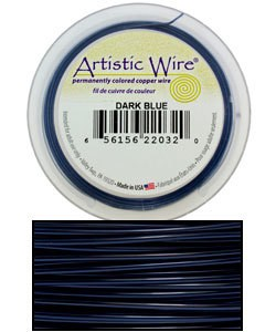 WR30320 = ARTISTIC WIRE RETAIL SPOOL DARK BLUE 20GA 15 YARDS