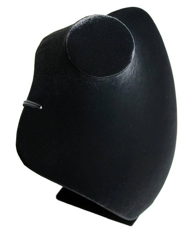 DCH1866 = Black Velvet Necklace Display 7-7/8'' x 5'' x 10-3/4'' H