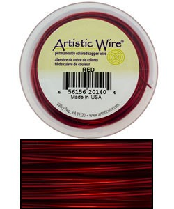 WR32028 = ARTISTIC WIRE RETAIL SPOOL RED 28GA 40 YARDS