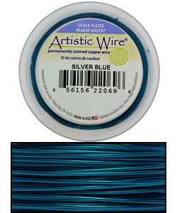 WR35620 = ARTISTIC WIRE RETAIL SPOOL SP BLUE 20GA 25 FEET