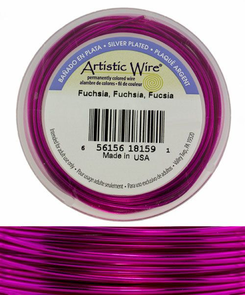 WR36518 = Artistic Wire Spool SP Fuchsia 18ga 20 feet **CLOSEOUT**
