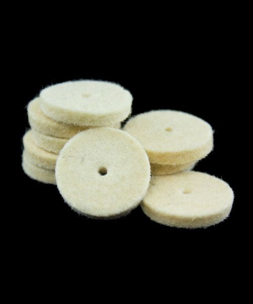 17.359 = BUFF - FELT MIDGET 5/8'' HARD SQUARE WHEEL (10pc)