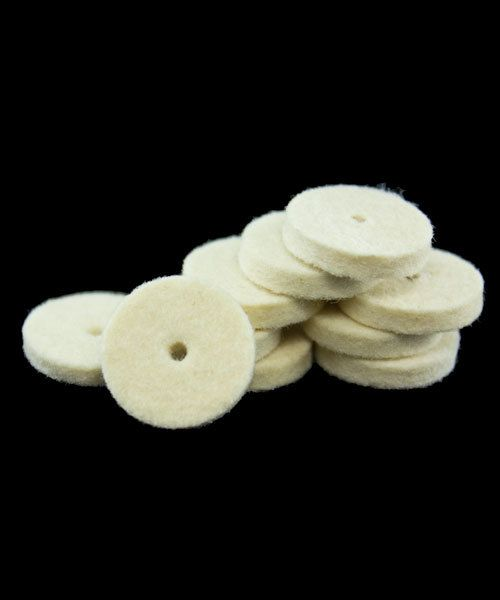 17.363 = BUFF - FELT MIDGET 5/8'' SOFT SQUARE  WHEEL (25pc)