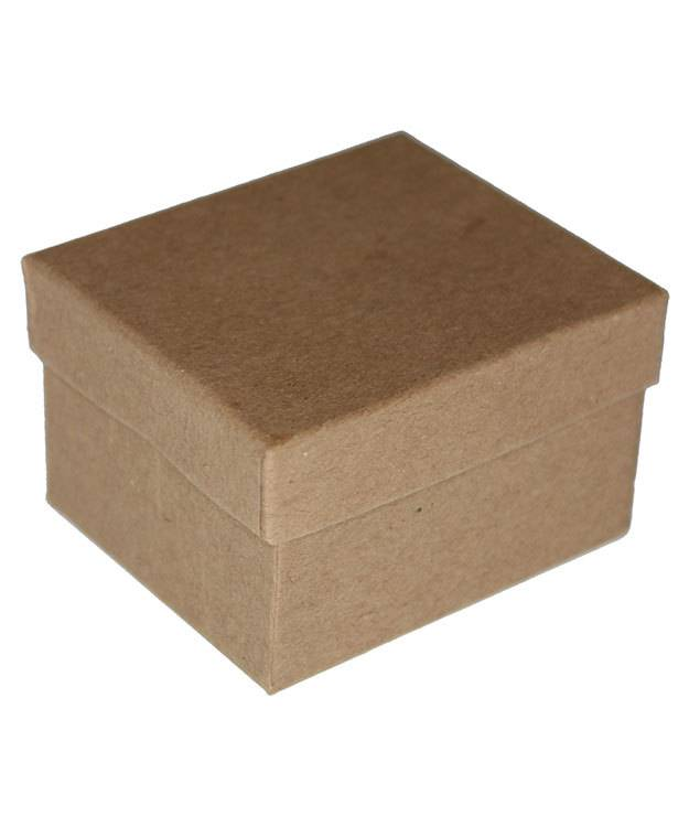 DBX3902 = Boxes - Burlap Covered Ring Box 2-3/8'' x 2'' x 1-1/2''H
