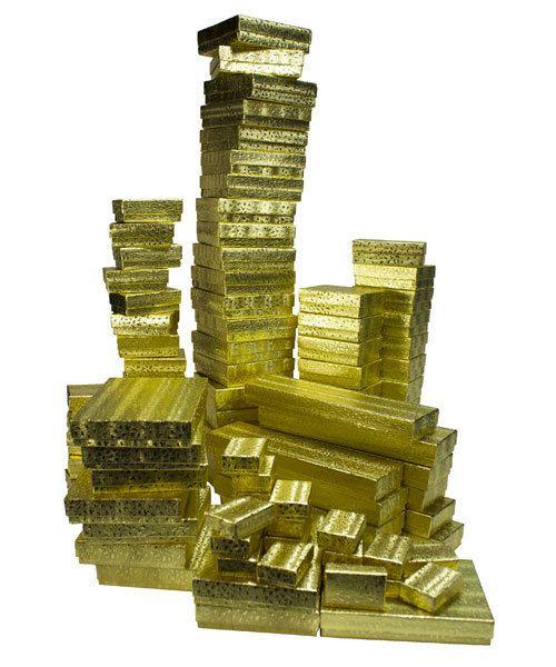 DBX2899G = Cotton Filled Box Assortment GOLD FOIL CASE 100